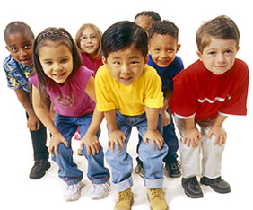 Picture of a Diverse Group of Children